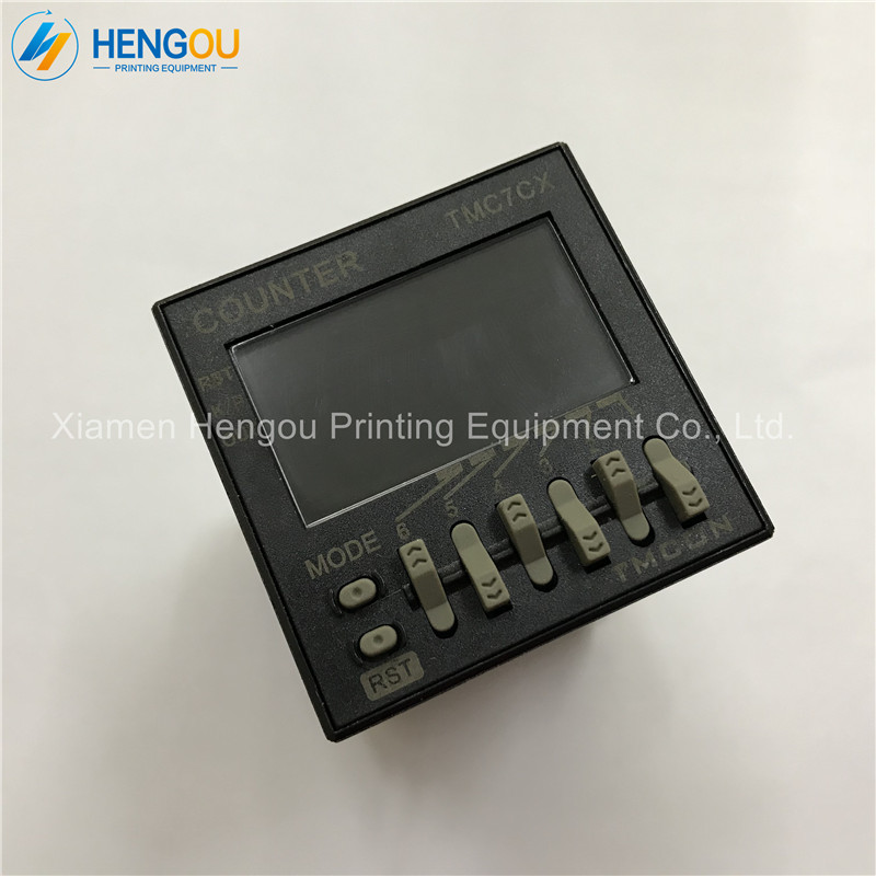 1 Piece New TMC7CX Counter, 6 Digits TMC7CX-CWP Preset Counter, Printing Machine Electronic Counter1 Piece New TMC7CX Counter, 6 Digits TMC7CX-CWP Preset Counter, Printing Machine Electronic Counter