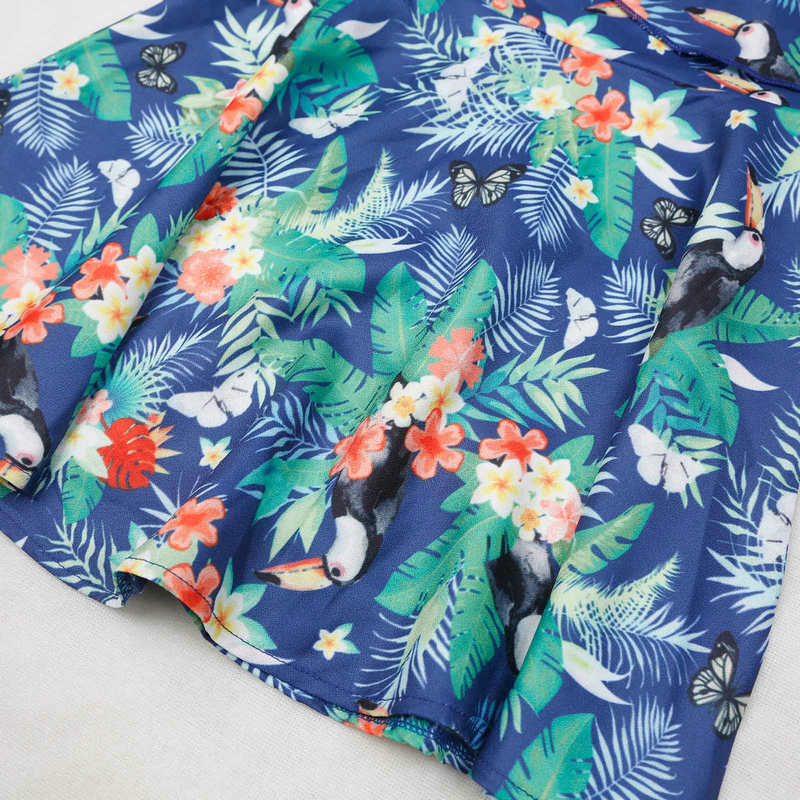 Family Look Matching Mother And Daughter Dresses Shoulder off Sleeve Beach Mommy And Me Clothes Swimsuits Outifits Mom Kids Girl (25)