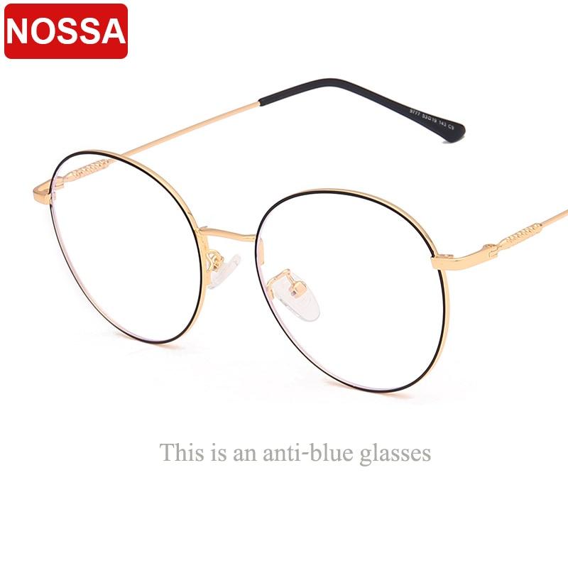 GüNstiger Verkauf Neue Schöne Mode Anti-blu-ray Brille Trend Metall Oval Flache Spiegel Für Männer Und Frauen Können Werden Ausgestattet Mit Myopie Rahmen.
