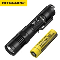 NITECORE MH12GT LED Flashlight CREE XP L HI V3 1000 LM Torch Flashlight with USB Rechargeable + NL1834 3400mah 18650 Battery