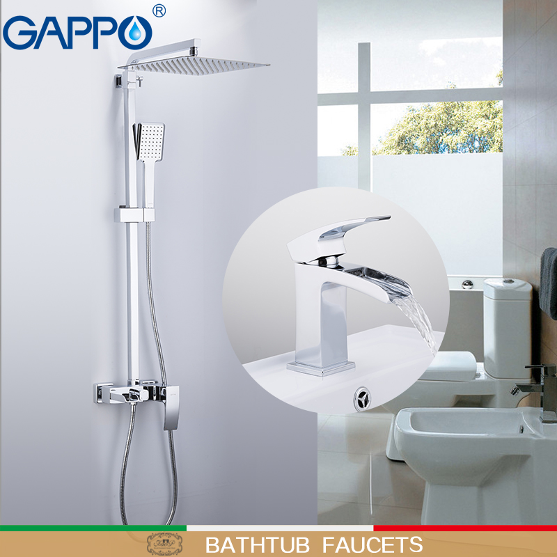 GAPPO Bathtub Faucets basin Faucet deck mounted basin sink faucet chrome polished taps brass wall bathroom