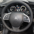 Black Artificial Leather DIY Hand-stitched Steering Wheel Cover for Mitsubishi Outlander 2013 2014 Mirage 2014 ASX