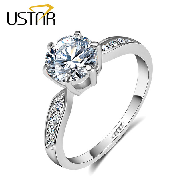1.75ct AAA Zircon wedding Rings for women white gold color Engagement rings female anel Austria Crystal Jewelry top quality