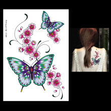 1pc Dreamcatcher Temporary Large Women Health Fake Body Art Tattoo LC-828 Waterproof Butterfly Flower Arm Sleeve Tattoo Stickers