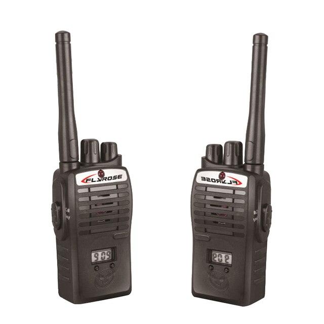 2X Walkie Talkie Kids Electronic Toys Portable Two-Way Radio Set Black