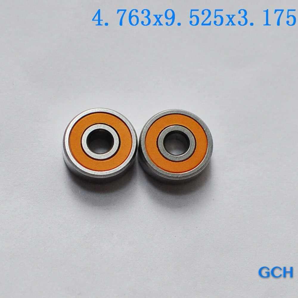 For PENN/AVET/NEWELL 2PCS 4.763X9.525X3.175mm Hybrid Stainless Steel Fishing Reel Bearings