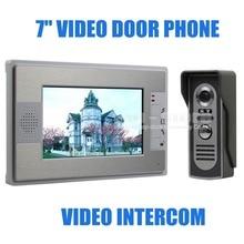 DIYSECUR Nuevo Inicio de Vídeo En Color Teléfono de la puerta Sistema de Intercomunicación Del Timbre de 7 pulgadas LCD Monitor Manos Libres Impermeable Cámara de INFRARROJOS SY812M11