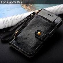Чехол для xiaomi mi 9 mi 9 роскошный модный кожаный чехол с подставкой слот для карт кошелек сумка для xiaomi mi 9 чехол funda силиконовый чехол