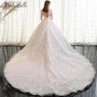 Modabelle 2018 Vintage Wedding Dress Lace Sleeve Dubai Online Shopping Handmade Applique Long Tail Ivory Luxury