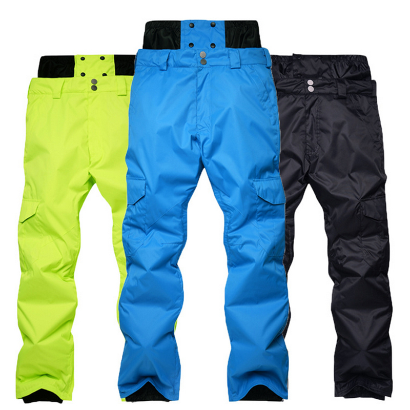 Ski Pants Male Outdoor Thermal Skiing  Snow Pants Woterproof Windproof  Camping Hiking Traveling Climbing Trousers Winter Men
