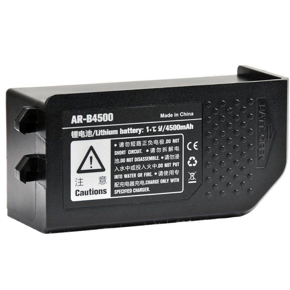 Godox Li-ion battery 11.1V 4500mA AR-B4500 for Witstro AR400 Ring Flash Light godox witstro ar400 400w li ion battery professional macro led ring flash speedlite 2 in 1 led video light 5600k