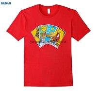 Gildan 100% ٪ س الرقبة المطبوعة t-shirt التارو بطاقات t-shirt التصوف الغيبيات يكا وثنية الجرافيك المحملة