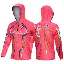 Gamakatsu одежда для рыбалки с длинным рукавом Уличная дышащая 5XL рыболовные рубашки анти УФ быстросохнущая велосипедная охотничья туристическая одежда