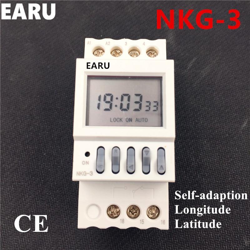 NKG3 NKG-3 אסטרו ממסר מתג זמן לתכנות הדיגיטלי טיימר LCD Microcomputer Latitude אורך רכבת רחוב מנורת בקר