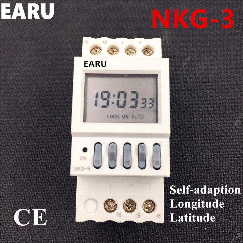 NKG3 NKG-3 LCD Mikrocomputer Programmierbare Digitale Astro Timer-zeitschalter Relais Timer Breite Länge Schiene Straßenlaterne Controller