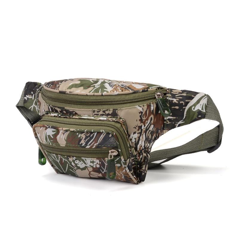 Canvas Camouflage Fanny Pack Waist Bag Travel Pocket Sling Chest Shoulder Bag Cellhone Holder Pack Belt With Separate Pockets