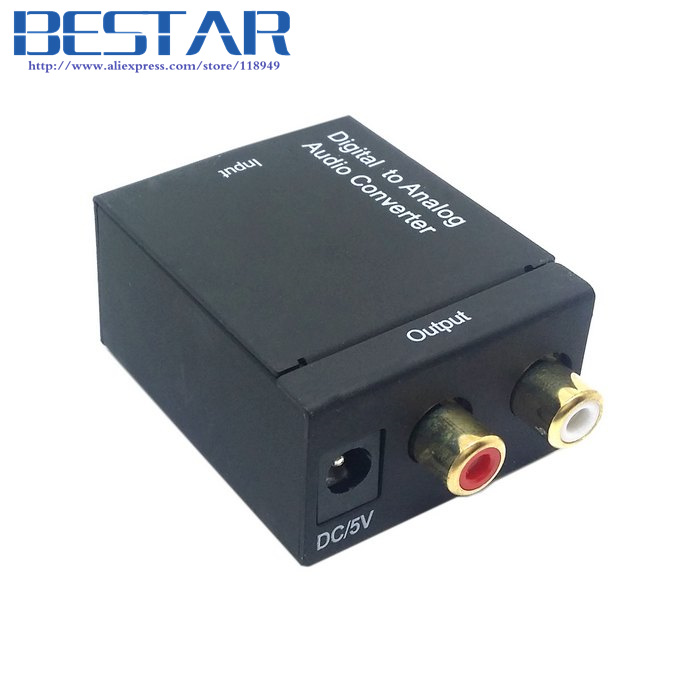 Digital SPDIF Coaxial Coax RCA & Optical Toslink Digital to Analog L/R Audio Converter Adapter кабели межблочные аудио silent wire digital 5 rca coaxial 2 0m