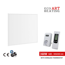 360W Infrared Heater with Wireless Thermostat  Home Heating System Wall Ceiling Mount Heater