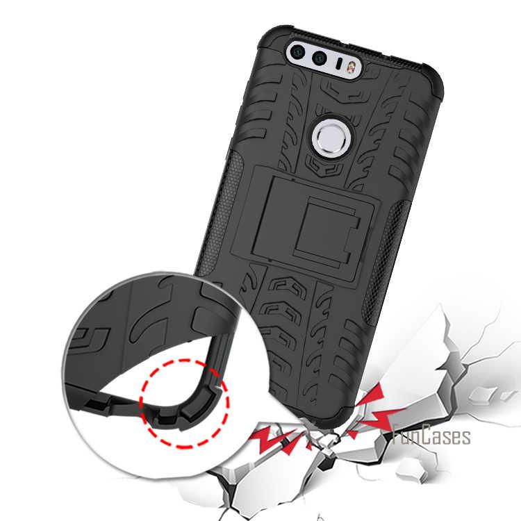 Per Huawei Honor 8 Caso 5.2 inch Hybrid Cavalletto Dazzle Rugged gomma Armatura Dura del PC + TPU 2 In 1 Con La Funzione Del Basamento caso
