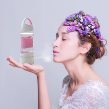 Drip sports beauty hydrating cup Creative timed drinking water reminds smart Spray humidification hand