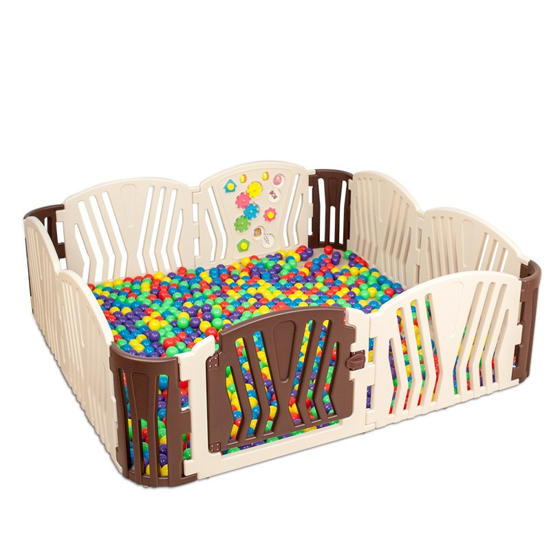 Coffee Baby Playpens Indoor Baby Kids Activity Gear Environmental Protection Barrier Game Fence EP Safety Play Yard