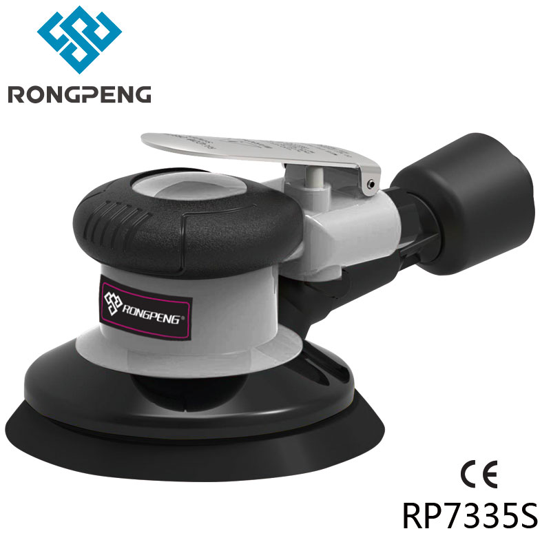 """RONGPENG HEAVY DUTY 5"""" AIR SELF VACUUMING D/A SANDER PROFESSIONAL 6 Inch PNEUMATIC SANDER TOOL RP7335S RP7336S"""