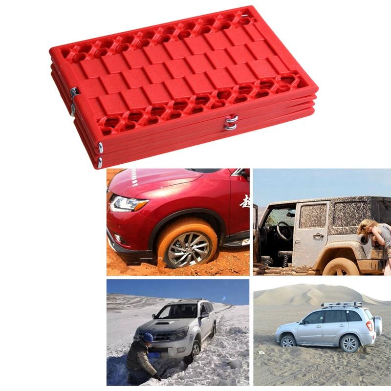 2Pcs/Set Universal Car Tire Grip Tracks Security Anti-skid Plate Snow Mud Sand Rescue Non-Slip Mat Instant Traction Auto Escaper(China)
