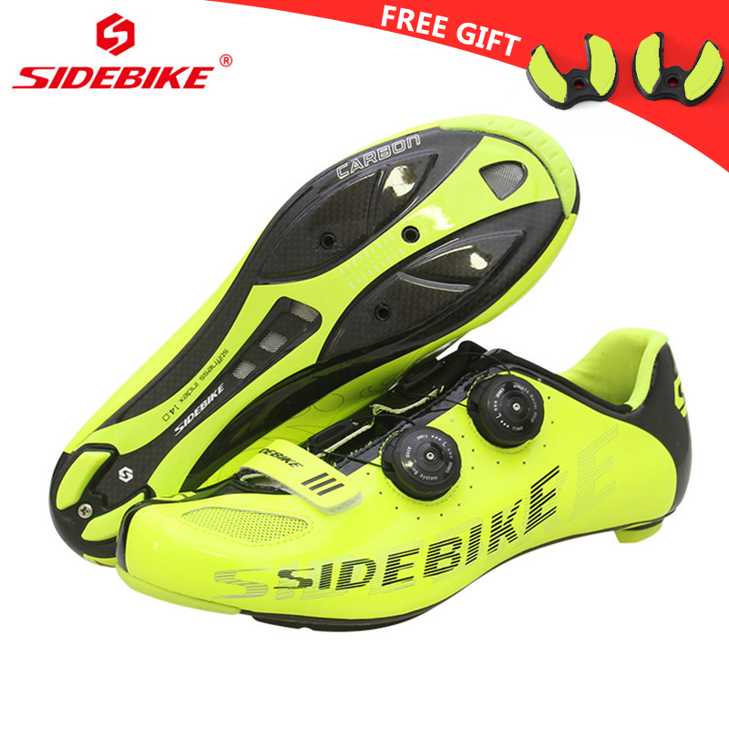 Sidebike carbon fiber road cycling shoes men's outdoor sport bike bicycle sneaker self-locking road shoes chaussure velo route sidebike mtb bike shoes carbon fiber cycling shoes men breathable non slip self locking road bike shoes bicycle sneaker shoes