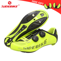 Sidebike carbon fiber road cycling shoes men's outdoor sport bike bicycle sneaker self locking road shoes chaussure velo route