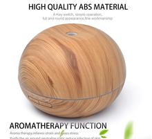 USB 550ml Aroma air Humidifier Aromatherapy Wood Grain 7 Color LED Lights Electric Aromatherapy Essential Oil Aroma Diffuser