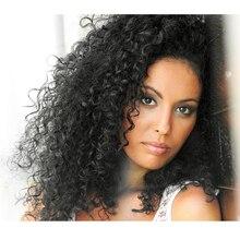 Remy человеческие волосы кудрявые Вьющиеся 3 пучка s с 4x4 кружева бразильские волосы с закрытием пучок Remy человеческих волос прядь натуральных волос