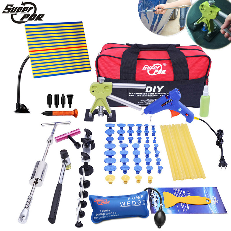PDR tools Paintless dent repair Tools kit Slide Hammer bridge pulling Glue Gun Dent Puller Car Auto Body Hail Damage Repair цены
