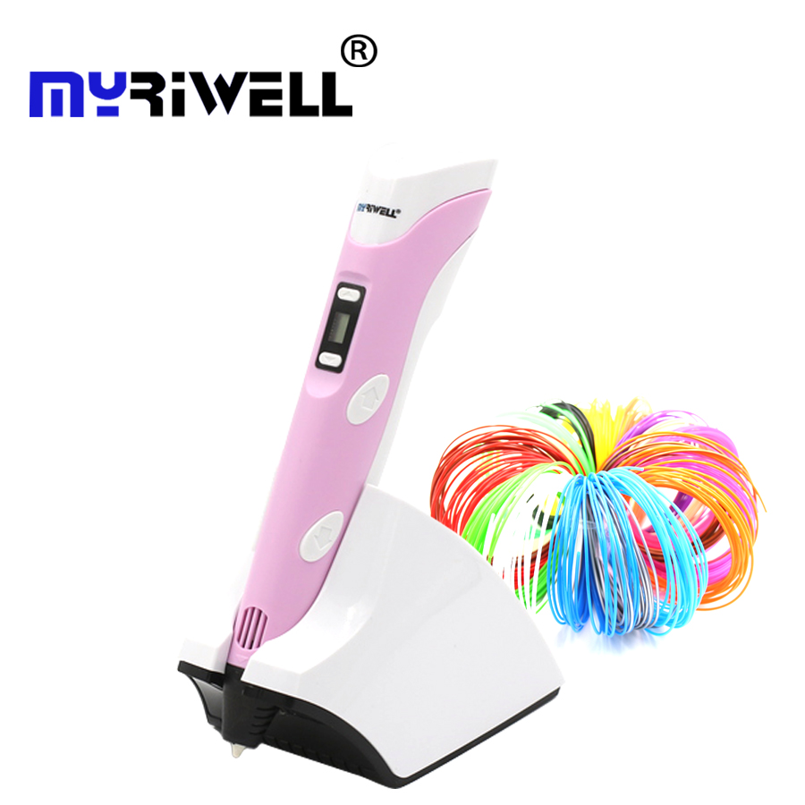 Myriwell wireless charging 3D pen PCL PLA Low temperature 4 generation 3d printing pen Built in