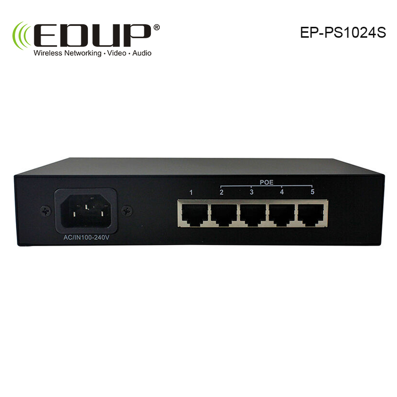 POE Switch 8 port 10/100Mbps network of compatible network cameras and wireless AP power IEEE 802.3af with EU/US Power Adapter