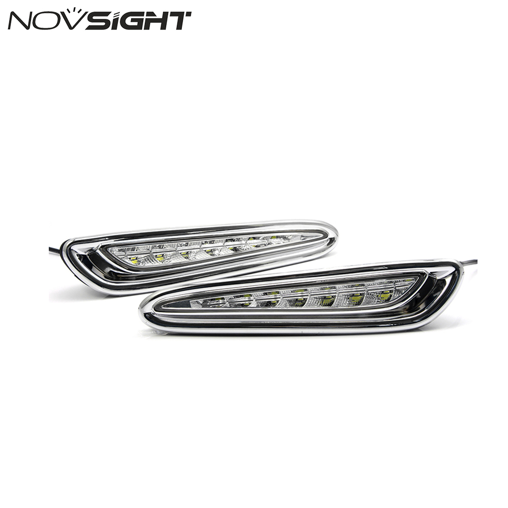 NOVSIGHT Car LED Daytime Running Light For Mazda 3 Axela Fog Lamp DRL 2010 2011 2012 2013 White new arrival a pair 10w pure white 5630 3 smd led eagle eye lamp car back up daytime running fog light bulb 120lumen 18mm dc12v