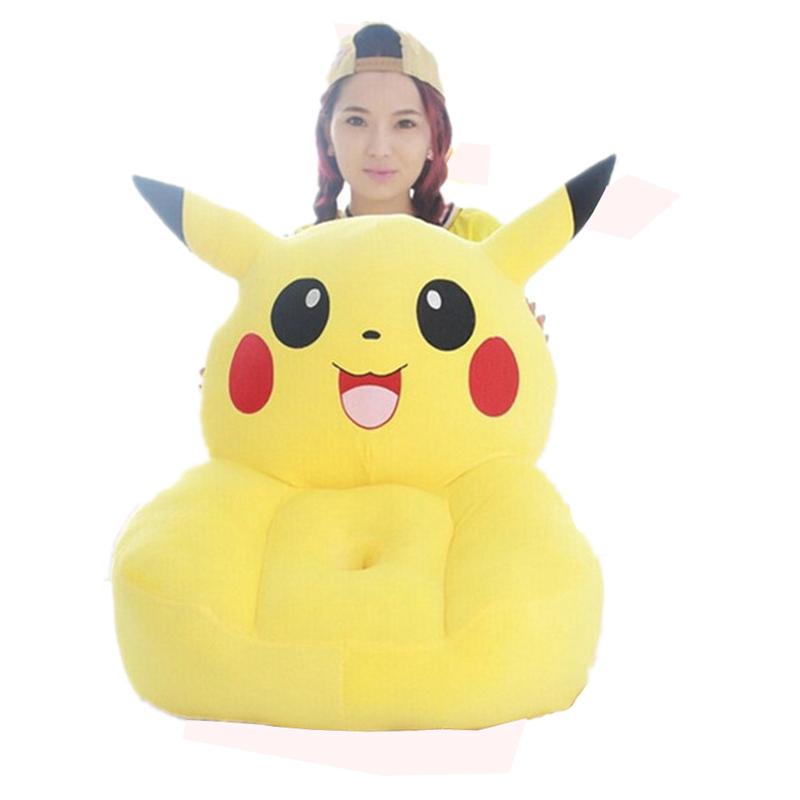 Fancytrader Pikachu Plush Tatami Chair Lovely Stuffed Anime Pikachu Sofa Cushion  Best Gift for Children