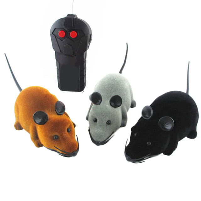 Remote Control Wireless controller RC Rat mouse mice hameln animal toys For Cat Dog kitten teaser playing Pet Toy Novelty Funny