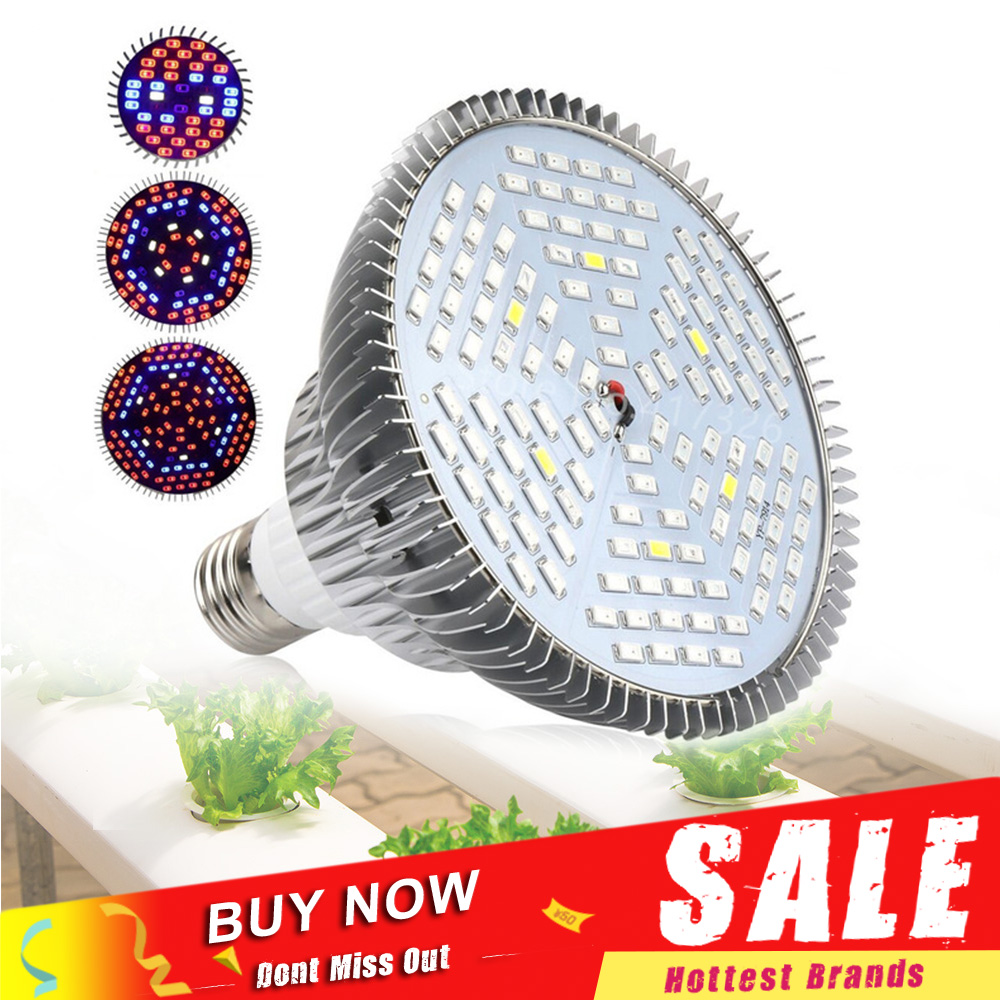 30W 50W 80W Full Spectrum LED Grow Light Phytolamp Plant Lights Led Lamp Bulb For Garden Indoor Seeds Flowers Grow Box E27