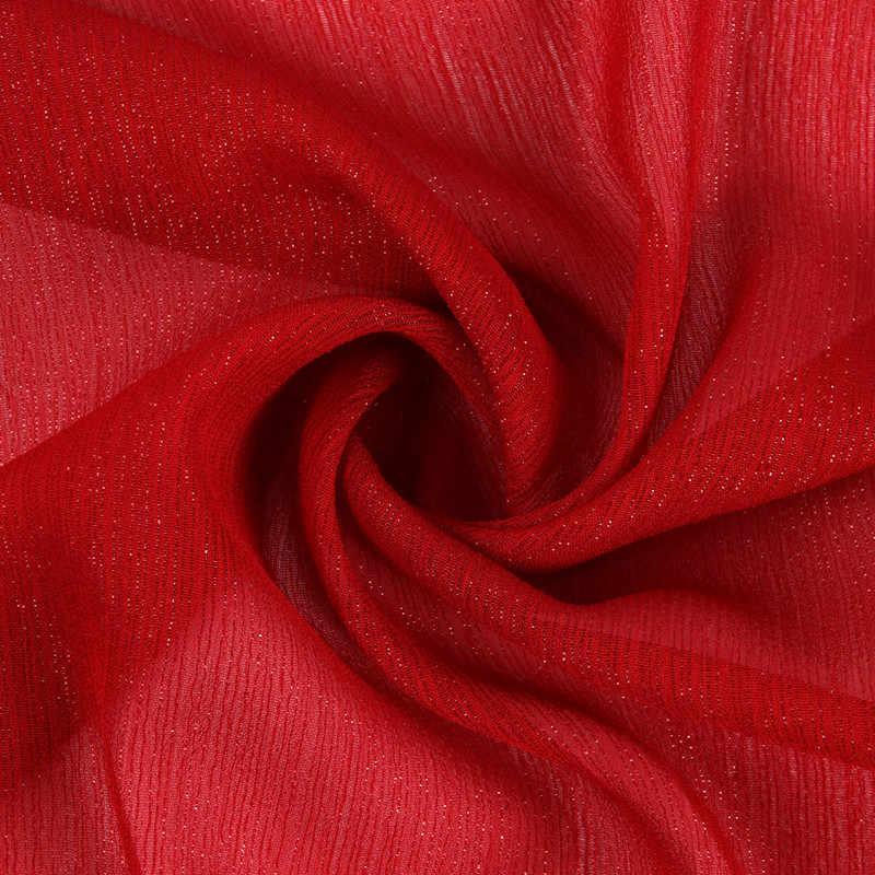 150cm * 50cm rojo metálico crepé tela seda chifón luz suave transpirable DIY tela plata tela de crepé de seda tela de gasa