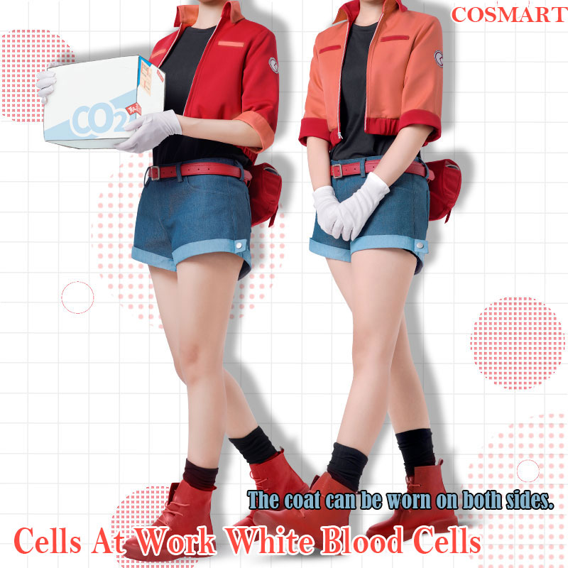 [Stock]New 2018 Amine Cells At Work Hataraku Saibou Erythrocite Red Blood Cell Cosplay Costu Carnival Halloween Costuem
