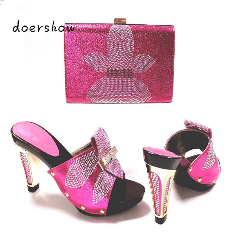 doershow  Shoes with Matching Bags Shoes and Bags To Match African Shoe and Bag Set for Party In Women Italian Design!HJJ1-7  italian shoe with matching bag silver african shoe and bag set new design matching shoes and bags for party bch1 6
