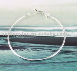 FREE SHIPPING 50PCS Silver plate earring hoop 60mm #19972