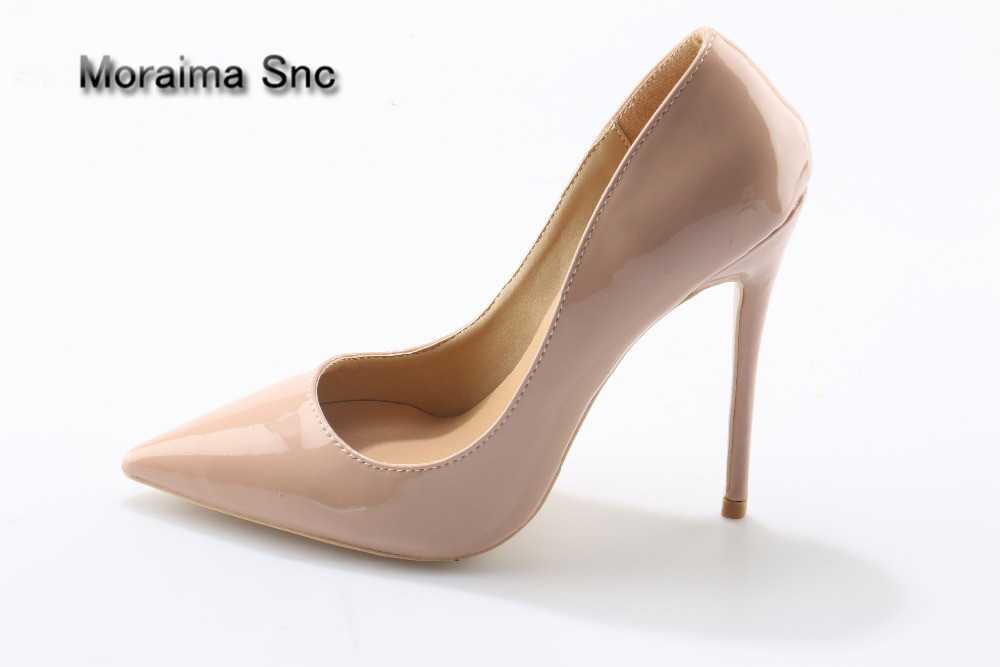 Moraima Snc brand shoes <font><b>high</b></font> <font><b>heels</b></font> pumps beige <font><b>12</b></font> <font><b>cm</b></font> <font><b>high</b></font> <font><b>heels</b></font> shoes women Factory sales price wholesale sapato feminino 2018 image