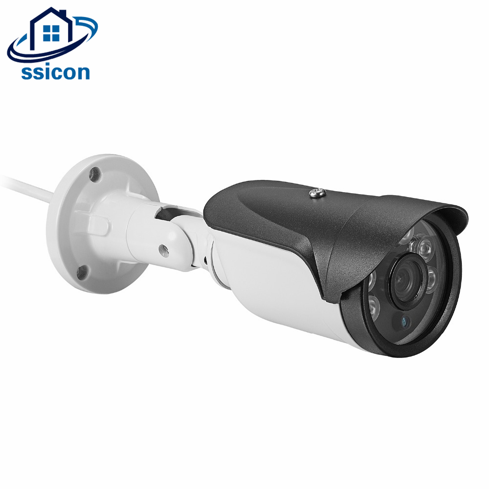 SSICON Home Security Waterproof Camera 3.6mm Lens Bullet AHD 4MP Analog Camera Outdoor 6Pcs Array Leds Night Vision CCTV Camera wistino cctv camera metal housing outdoor use waterproof bullet casing for ip camera hot sale white color cover case