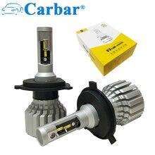 Carbar #2018 Novos V5S Carro LEVOU Kit Farol H4 Hi/Lo Feixe LEVOU DRL Farol Substituição Lâmpadas 50 W 6000 K Car LED Bulb H4 H7 H15 H8