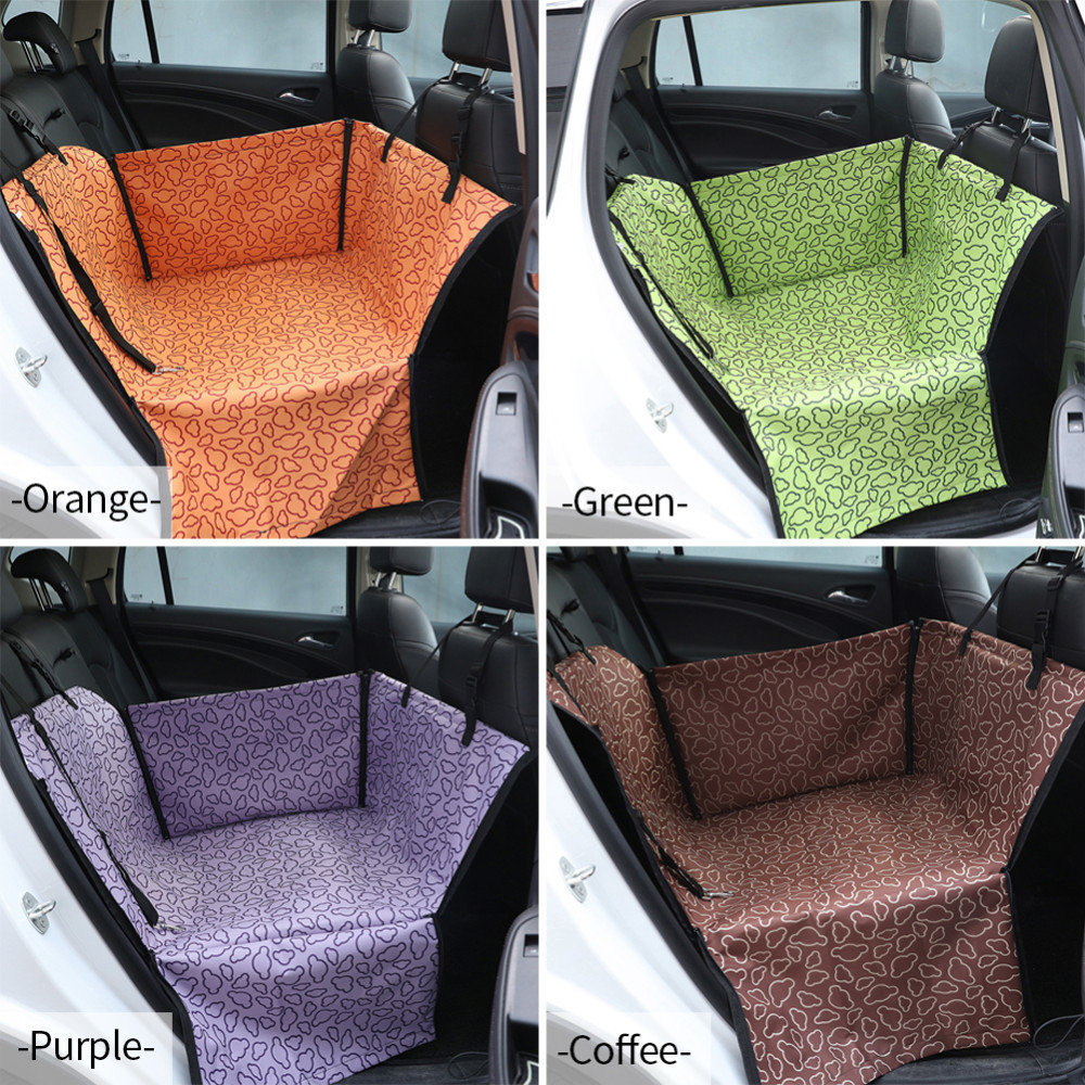 Waterproof Oxford Dog Seat Cover With Zipper on Both Sides for Easy Access