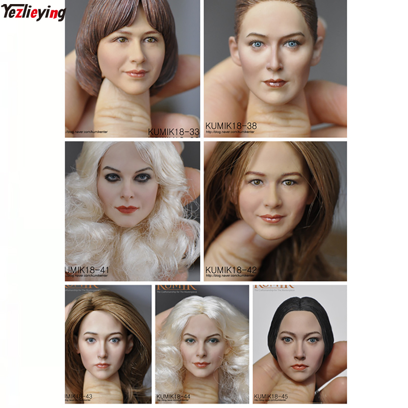 KUMIK 1/6 Scale Accessories KM 33 34 35 36 38 41 42 43 44 45 Male/Female Head Sculpt fit 12 Inch Hot Toys Phicen Kumik Body купить недорого в Москве