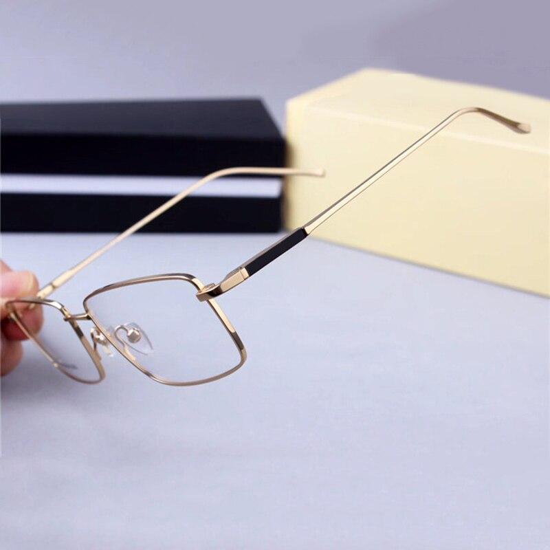 Marque titane Vintage hommes lunettes carrées cadre clair rétro lunettes pour hommes optique myopie lunettes montures lunettes pour hommes
