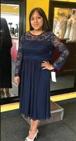 Sexy Dark Navy Cheap Lace Plus Size Mother Of The Bride Dresses Long Sleeves Chiffon Mother Dresses Mother of Groom Dress Formal
