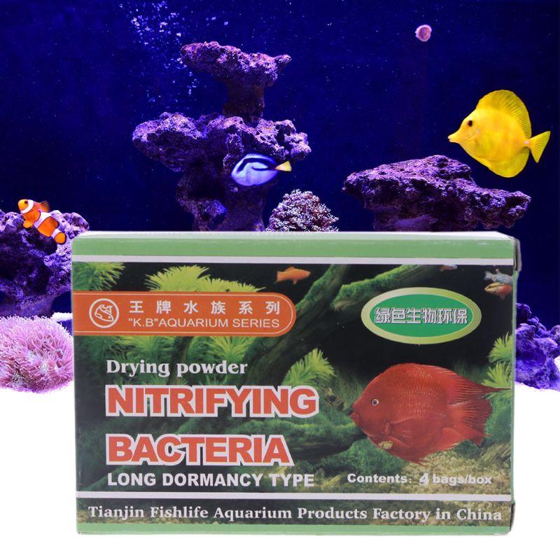 4Bags Aquarium Nitrifying Bacteria Powder For Fresh Marine Water Fish Tank